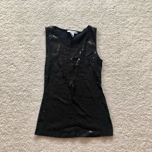 Style & Co Tops - black sequin tank